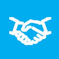 panda handshake icon